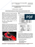 Design and Analysis of Suspension System for Student Formula Car