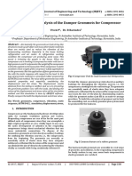 Evaluating Static Analysis of the Damper Grommets for Compressor