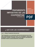 Tratamiento Impositivo de Las Cooperativas