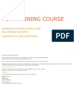 HSR Training Course - Learning Outcome Matrix and Multimedia Register RTF, 428 KB