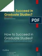How to Succeed in Graduate Studies141