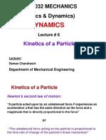 ME1032 Dynamics-Lecture 6 Kinetics