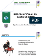 Clase 01- Introduccion a Las Base de Datos