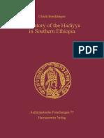 Braukaemper a History of the Hadiyya in So 9783447192644