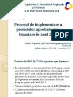 Implementarea proiectelor aprobate spre finanțare în 2017 din FNDR, în Regiunea de Dezvoltare Sud