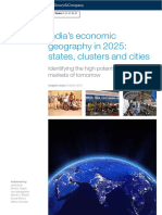 India's Economic Geography in 2025 - States, Clusters and Cities