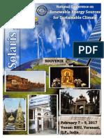 """Renewable Energy Sources for Sustainable Development """"Solaris 2017""""  Souvenir"""