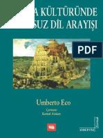 Umberto Eco - Avrupa Kültüründe Kusursuz Dil Arayışı (1)