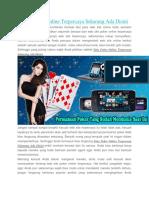 Situs Poker Online Terpercaya Sekarang Ada Disini