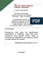 Pedro Apolinário - História do Texto Bíblico.doc