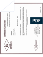 FM Approvals Certificate Thermobreak Tube