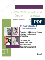 Overview of Regulation of Clinical Trials in Canadapdf