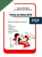 Folheto -Paragem de Natal 2016