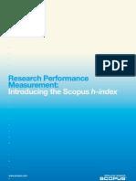 Scopus 2007 the h Index