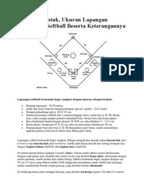 Gambar Dan Penjelasan Lapangan Softball