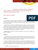 LA EDUCACIÓN GEOGRÁFICA EN CHILE