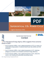 Supercritical CO2 Power Cycle - Eugenio Giacomazzi - EnEA