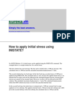 How to Apply Initial Stress Using INISTATE