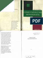LIVRO Délcio Vieira Salomon - Como Fazer Uma Monografia [Martins Fontes] (1)