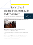 US Aid to Syria Disappears