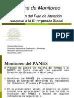 EVALUACIÓN!!!!!!!Ejecución del Plan de Atención Nacional a la Emergencia Social