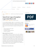 Save Error Log or Exception Log in Text File in C# _ Cybarlab