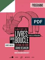 Découvrez le programme du Festival du livre du Grand Besançon