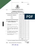 MRSM SPMTrialAddMaths QuesPaper 1 2005