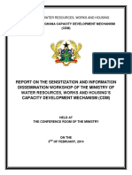 Project Sensitization Workshop Report