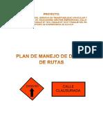 Plan de Manejo de Desvio Av. Huacachina - Agosto 2017