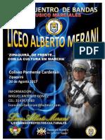 Ix Festival de Bandas Liceo Alberto Merani Zipaquirá