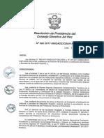 Resolución N°352-2017-SINEACE-CDAH-P