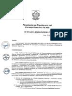 Resolución N°351-2017-SINEACE-CDAH-P