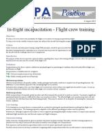 14POS06 - In-flight Incapacitation - Flight Crew Training