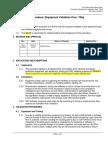 Procedure - Equipment Validation