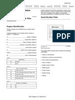 PERKINS ENGINE Identification Serial Number 27