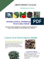 Green Seeds Catalog No 1
