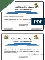 Certificados Word