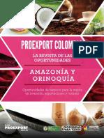 Revista de Oportunidades Proexport Amazonas y Orinoquia