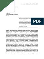 INTERVENCIÓN | Intervención Decreto 706- 2017