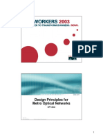 Designing Principles for Metro Optical Networks (Cisco - 2003)