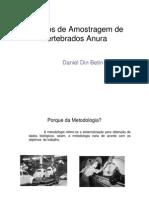 Métodos de amostragem de vertebrados anura