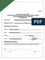Informe Final Fdi Emprendimiento Estudiantil