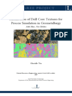 Classification of Drill Core Textures for Process Simulation in Geometallurgy