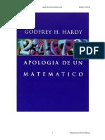Apologia de Un Matematico - Godfrey H Hardy