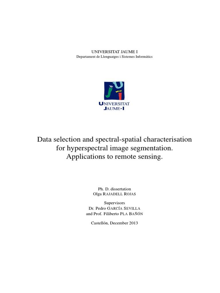 phd dissertation in remote sensing