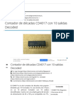 Contador de Décadas CD4017 Con 10 Salidas Decoded