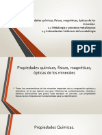 Propiedades Químicas Físicas Magnéticas Ópticas