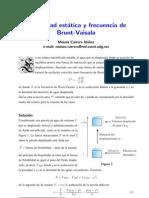 Estabilidad estática y frecuencia de Brunt-Vaisala