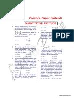 Quantitative Aptitude Solved Paper 1